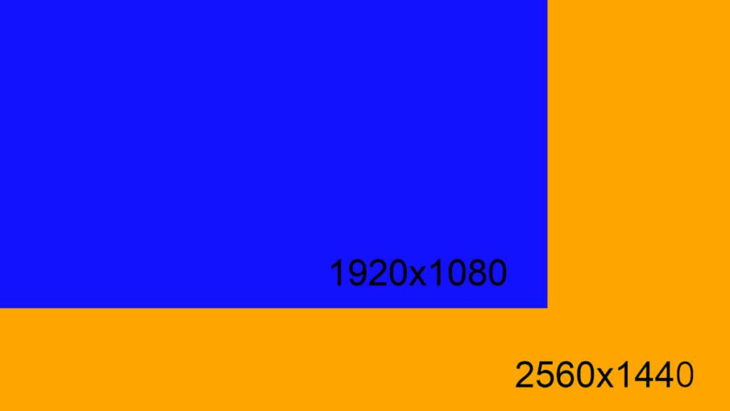 1080p vs 1440p Dell S2417DG