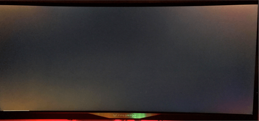 Acer Predator X34 Backlight Bleed BLB