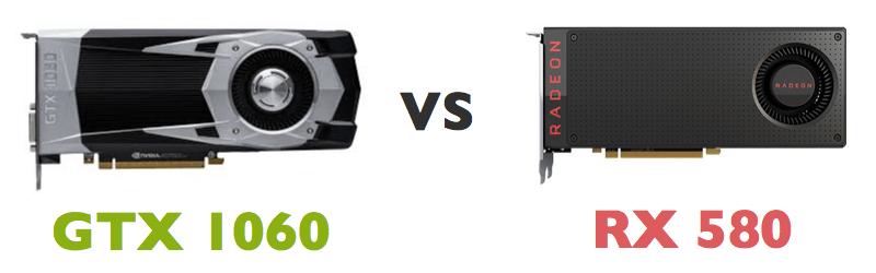 GTX 1060 9Gbps vs RX 580