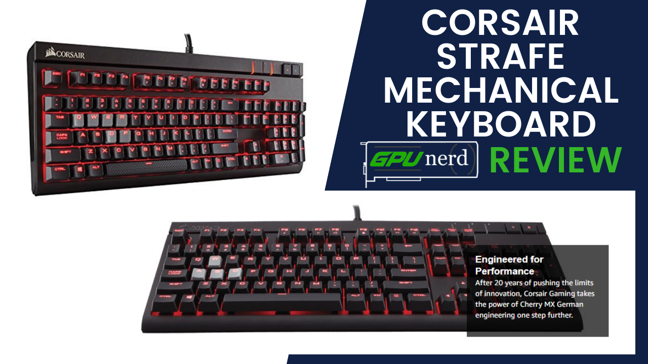 corsair keyboard in Red LED Backlit - USB Passthrough - Linear and Quiet - Cherry MX Red Switch