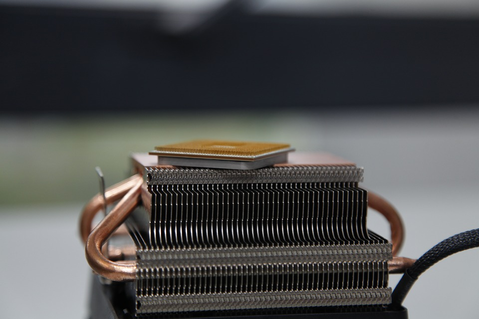 CPU and a cooling radiator
